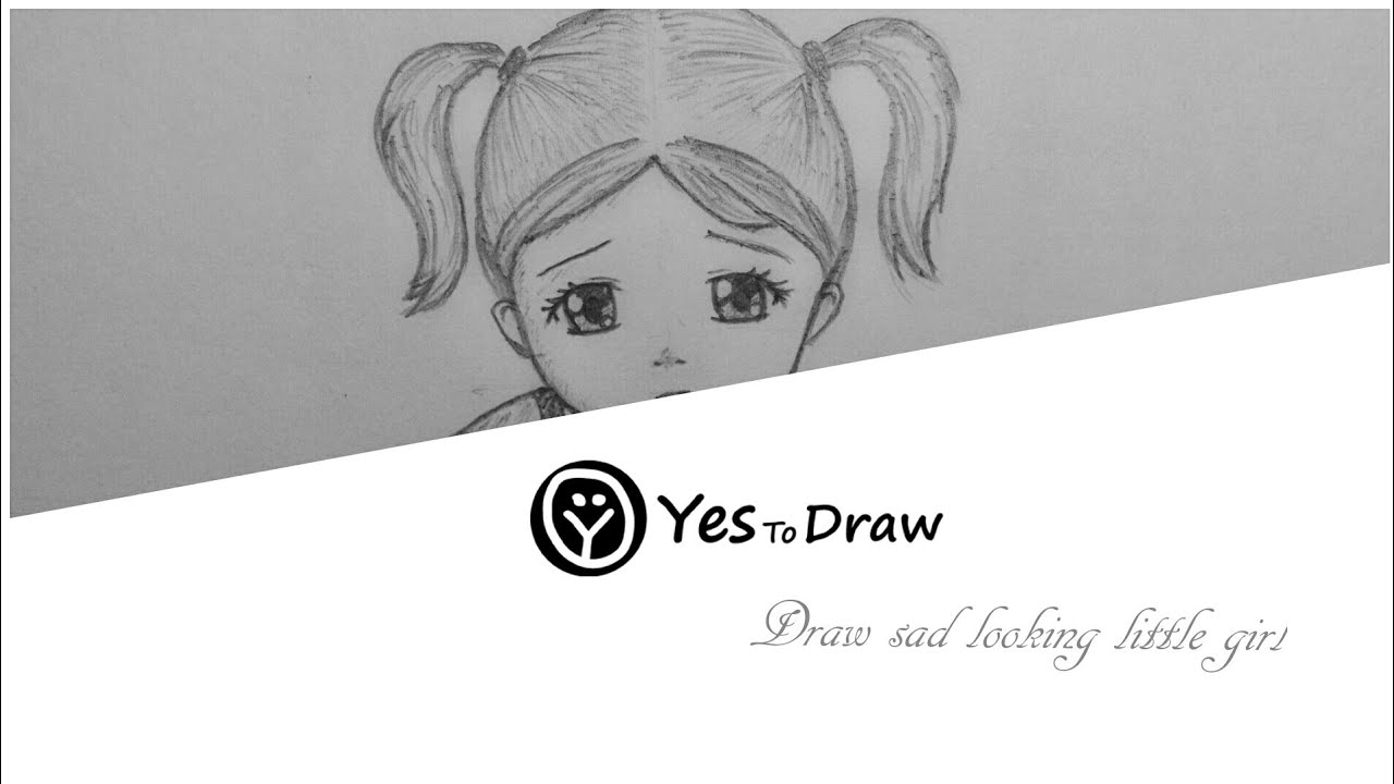 Sad Girl Drawing Learning Tutorial Youtube