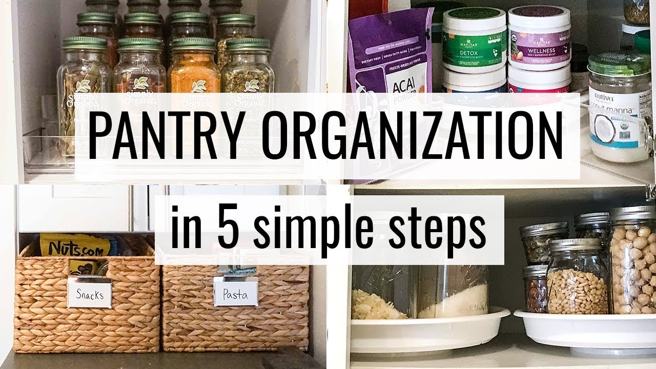 HOW TO ORGANIZE YOUR PANTRY | in 5 simple steps - YouTube