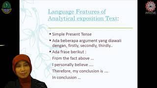 Video Sma: Bahasa Inggris - Analytical Exposition