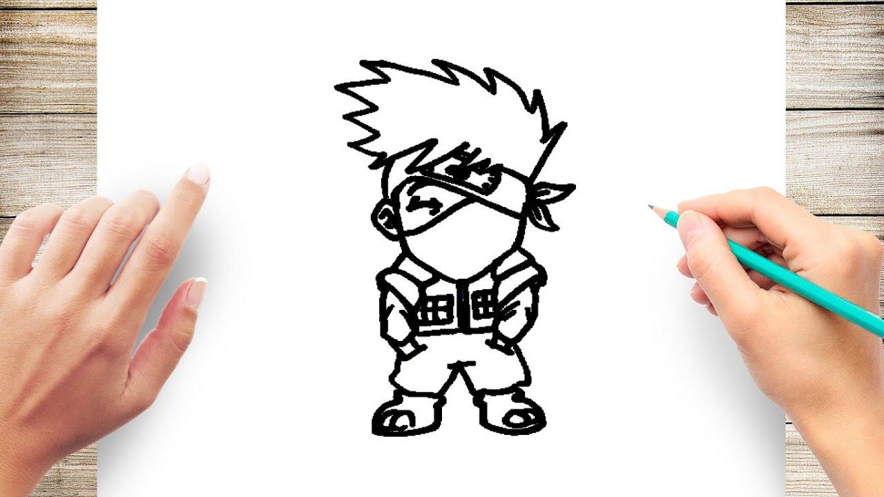 How to Draw Chibi Kakashi