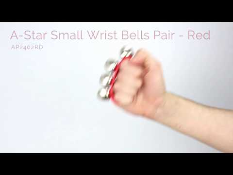 A-Star Small Wrist Bells Pair - Red