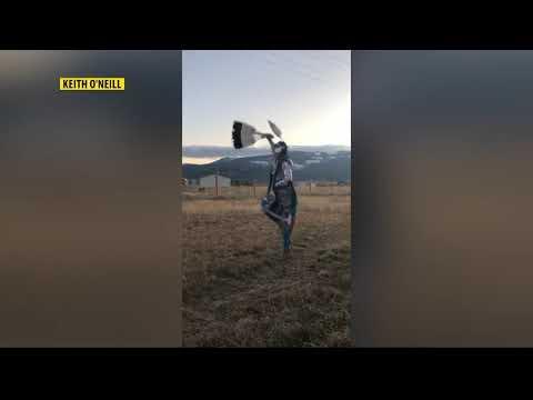 Young jingle dancer dances for healing during pandemic