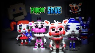 Five Nights at Freddy's FNAF Funko Sister Location Pop Figures Set Unboxing Lolbit Bon Bon NYCC
