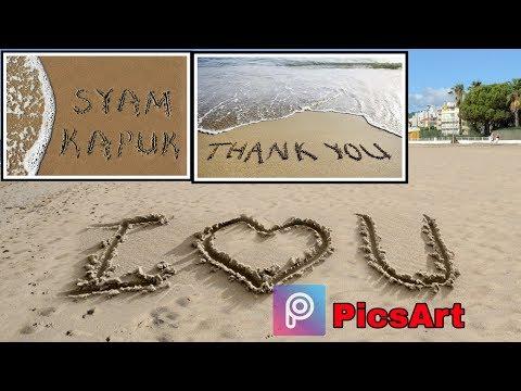 Cara Membuat Tulisan Seperti Di Pasir Pantai Menggunakan PicsArt