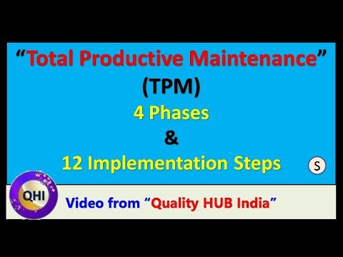 12 Steps and 4 Phases of TPM Implementation