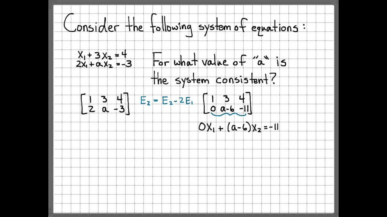 Linear Algebra Example Problems Augmented Matrix Of A