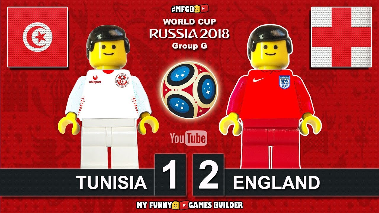 Download Tunisia vs England 1-2 • World Cup 2018 (18/06/2018) All Goals Highlights Lego Football