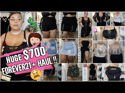 HUGE PLUS SIZE $700 FOREVER21 + END OF SUMMER FASHION HAUL + TRY ON