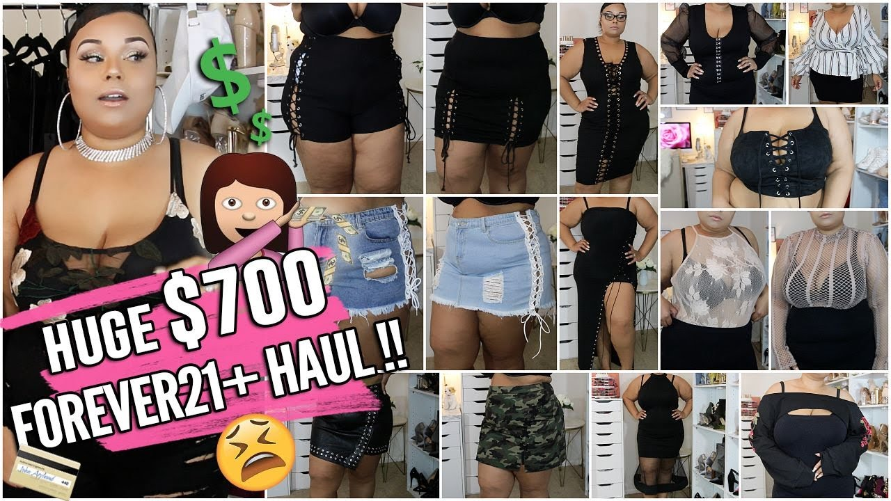 1a769f6dc8 HUGE PLUS SIZE  700 FOREVER21 + END OF SUMMER FASHION HAUL + TRY ON ...