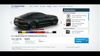Build And Price Your Own 2015 Mustang Gt Fastback Track Pack