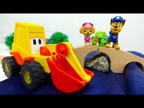 Paw Patrol Videos: Chase und Max der Bagger bauen eine Brücke – Deutsches Video mit Paw Patrol