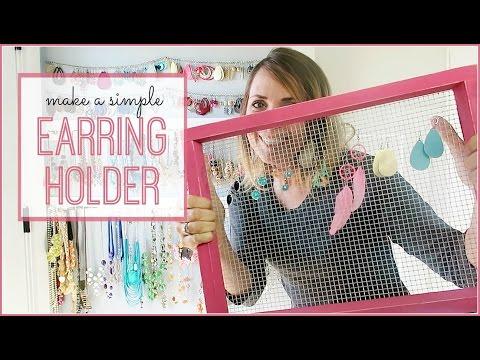 Make an Earring Holder!