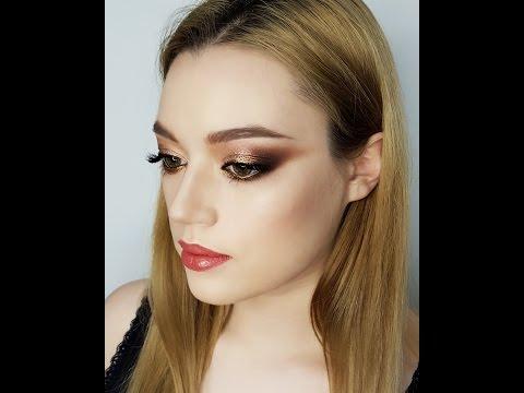 Золотисто- персиковый макияж с пигментами/Makeup Tutorial /Визажист Меньшова Юлия