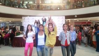 Indian dance in Bishkek, Kyrgyzstan.