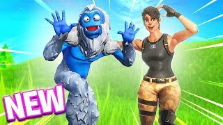NEW Fortnite TROG SKIN GAMEPLAY! - YETI SKIN IS SO FUNNY! (Fortnite Battle Royale Season 7)