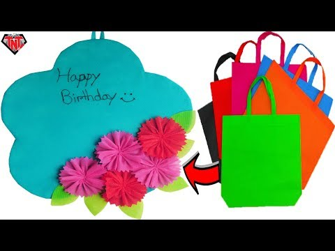 How To Make Wall Hanging Out Of Fabric Bags || DIY Shopping Bag Wallmate || Eid 2018