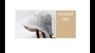 (코바늘 모자뜨기)crochet hat/플로핏 여름 모…