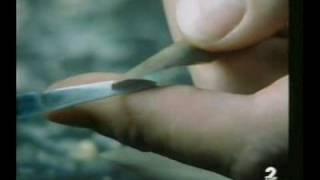 fabricación dunha pluma de cana