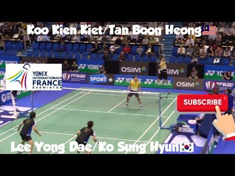 Nice Angle - Koo Kien Kiet/Tan Boon Heong VS Lee Yong Dae/Ko Sung Hyun - 2012 French Open-Highlight