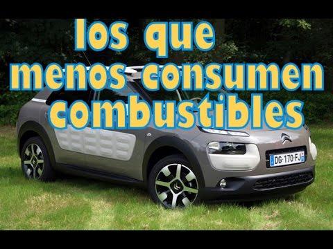 LOS 12 COCHES QUE MENOS CONSUMEN COMBUSTIBLES