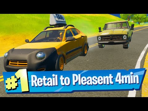 Drive a car from Retail Row to Pleasant Park in less than 4 minutes Location  Fortnite Battle Royale