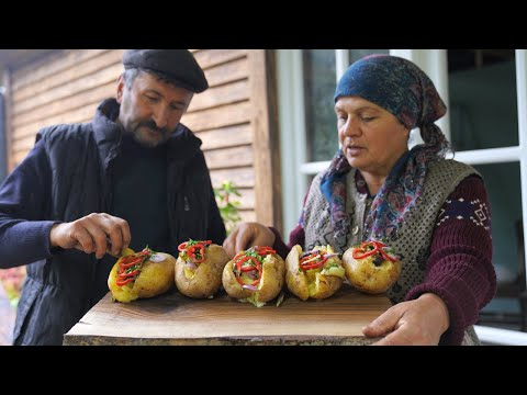 Best Potato Dish EVER - Turkish Stuffed Potato KUMPIR, Country Life Vlog