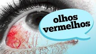 Nos não desaparecem vermelhas olhos veias que