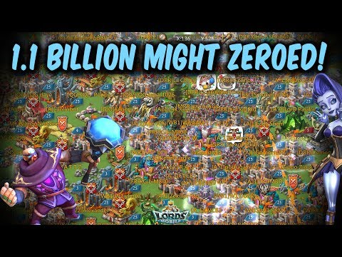1.1 Billion Might Player Zeroed With Multiple Rally Waves - Lords Mobile