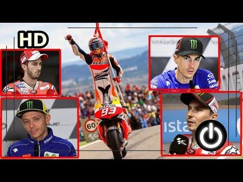 Aksi Gila Marquez Pecundangi Duo Yamaha dan Ducati MotoGP Aragon 2017 Mp3