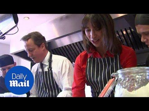 Samantha Cameron shows off her baking skills with David Cameron - Daily Mail