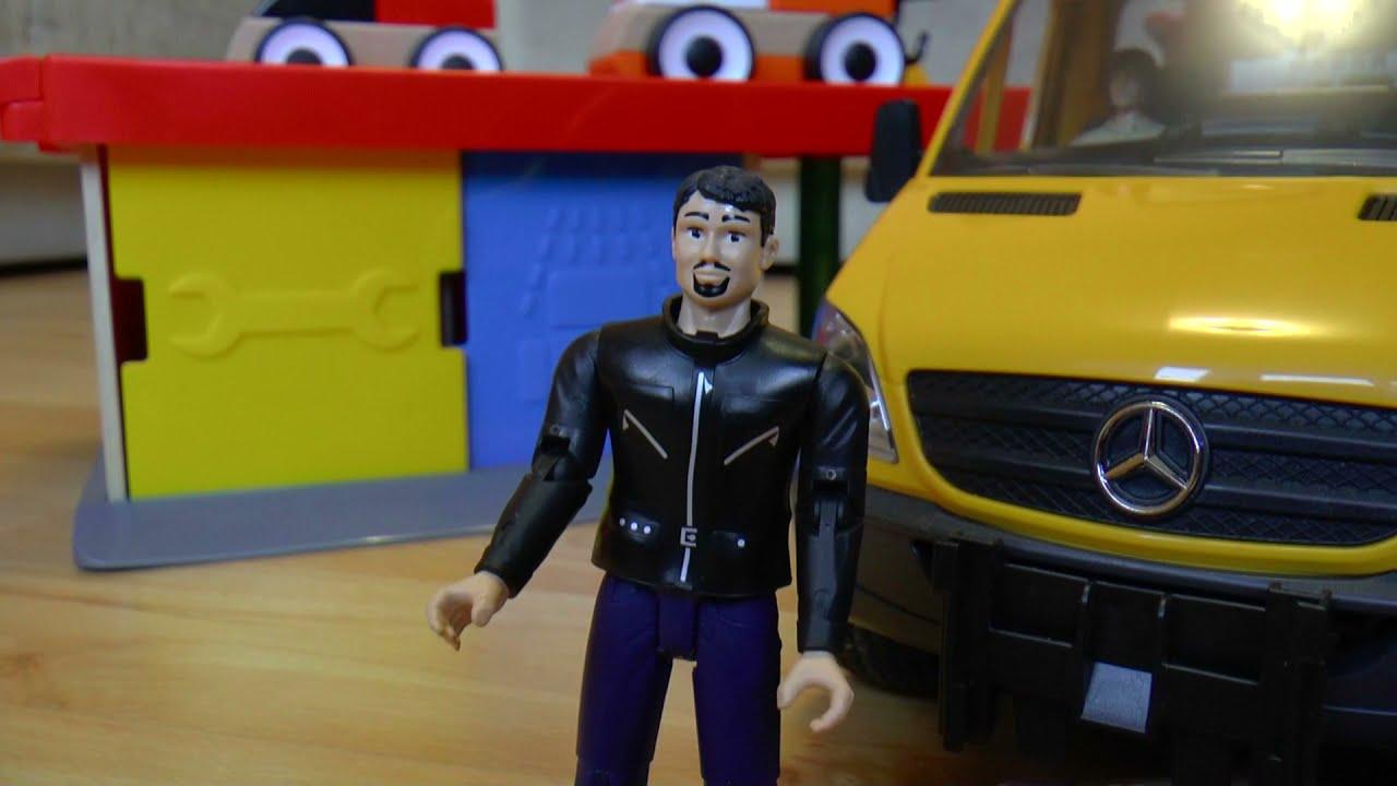 Спущенное колесо спасает машину Мультики для детей про машинки игрушки
