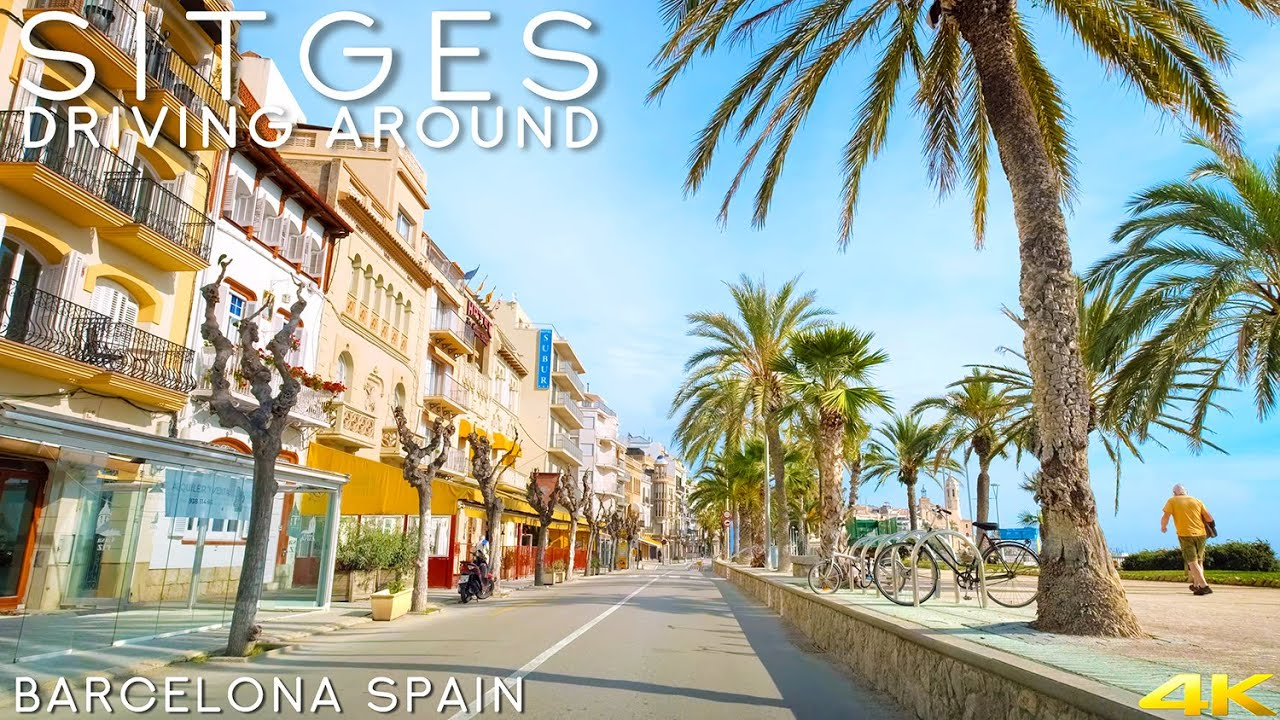 Download Tiny Tour   Sitges Spain   Driving in Sitges 2020 Winter