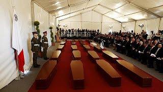 Funerales en Malta de los 24 inmigrantes recuperados del naufragio masivo