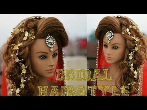 Bridal Hairstyle With Puff Messy Braid Bridal Hairstyle Chandra