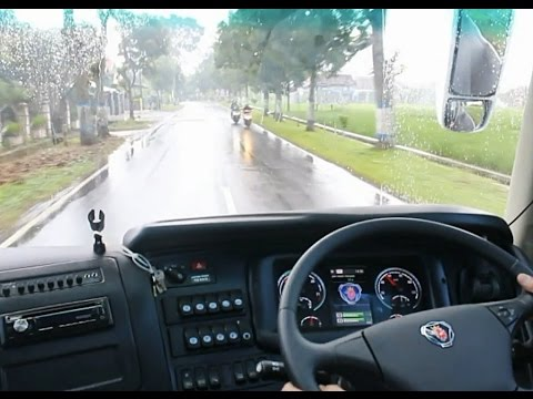 Test Drive Bus Matic PO Harapan Jaya Scania K360IB Opticruise