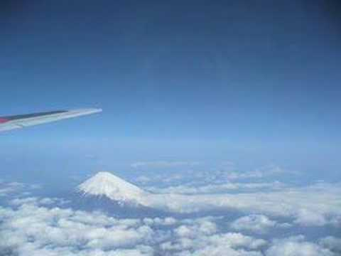 Mt. Fuji seen from the airplane Part1 (Japan)
