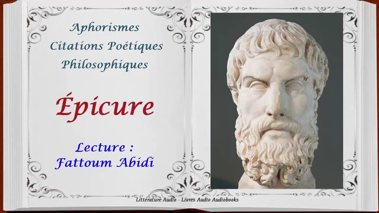 Aphorismes Et Citations Poétiques Et Philosophiques épicure Lecture Fattoum Abidi