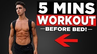 5 MIN BED TIME WORKOUT (NO EQUIPMENT BODYWEIGHT  WORKOUT!)