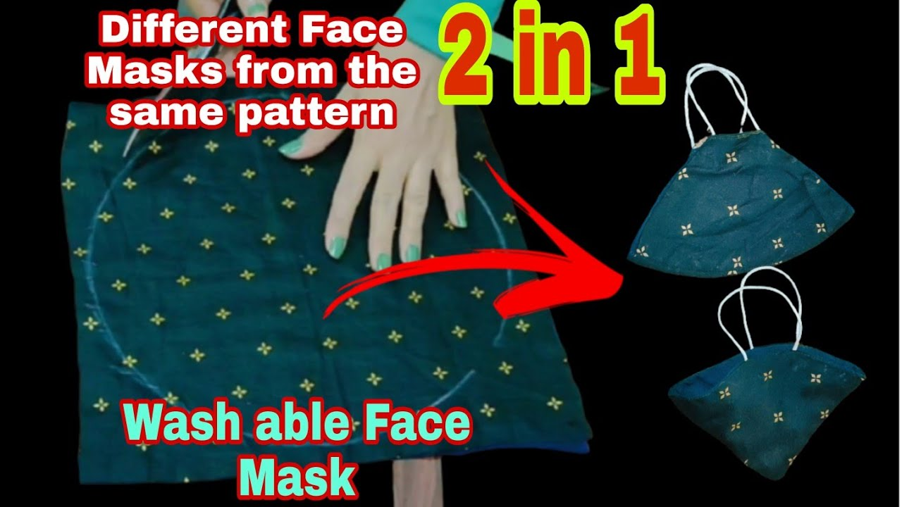 [DIY] 2 in 1 Face Mask Tutorial – sewing a face mask for beginners- Sew face mask at home