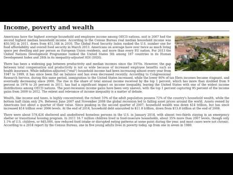 United States - Income, poverty and wealth