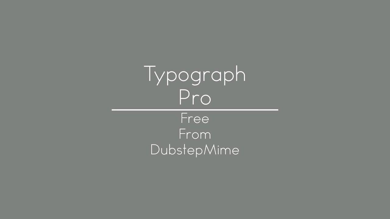 Typograph pro | fonts.