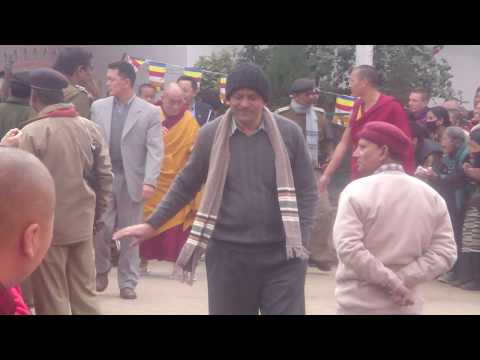 Dalai Lama in bodhgaya india