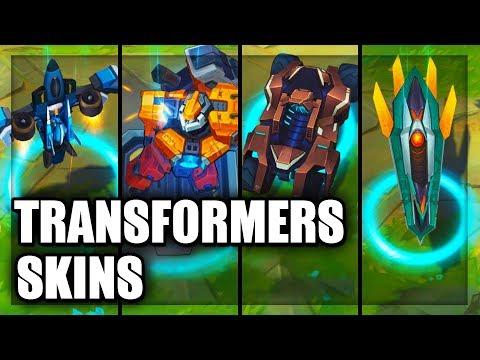 All Mecha Transformers Skins Aurelion Sol Aatrox Rengar Sion Kha'Zix Malphite (League of Legends)