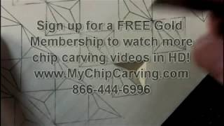 My Chip Carving 101-3, Three Corner Chips