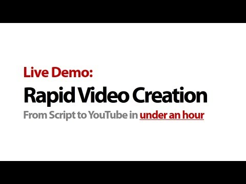 How To Make a Video In One Hour