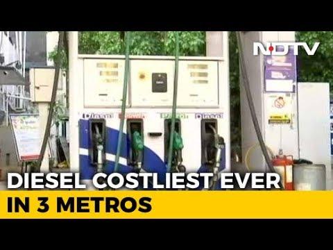 Petrol, Diesel Prices Hiked Marginally Today