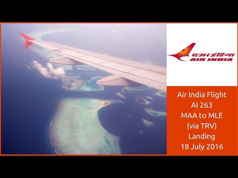 Landing at Male Airport | Air India AI263