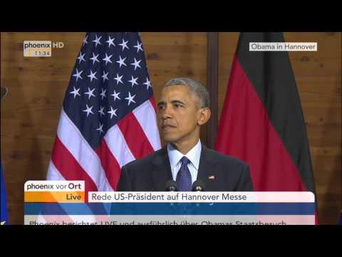 Obama-Besuch in Hannover: Rede von Barack Obama am 25.04.2016