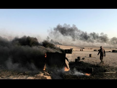 Syria's makeshift oil refineries: 'It is like hell'