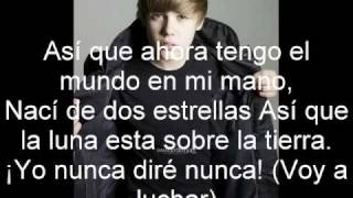 Justin Bieber - Never Say Never ft. Jaden Smith (letra español)